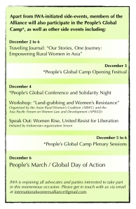 International Women's Alliance at the People's Global Camp