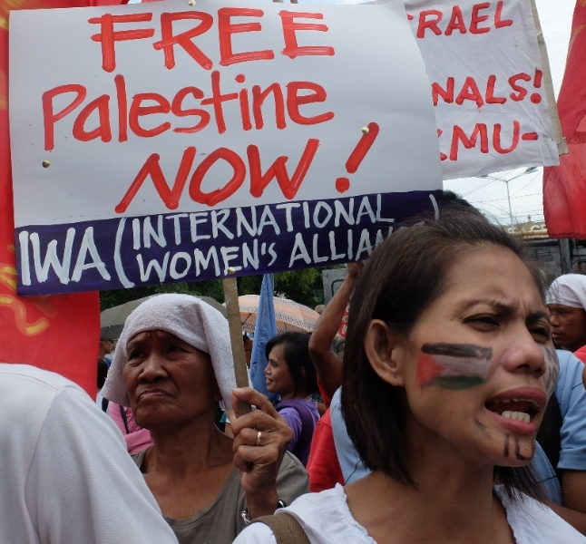 Members of the International Women's Alliance (IWA) in the Philippines join calls of justice for victims of the recent spate of attacks in Gaza by the Israeli government.